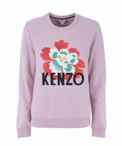 Flower Motif Sweatshirt