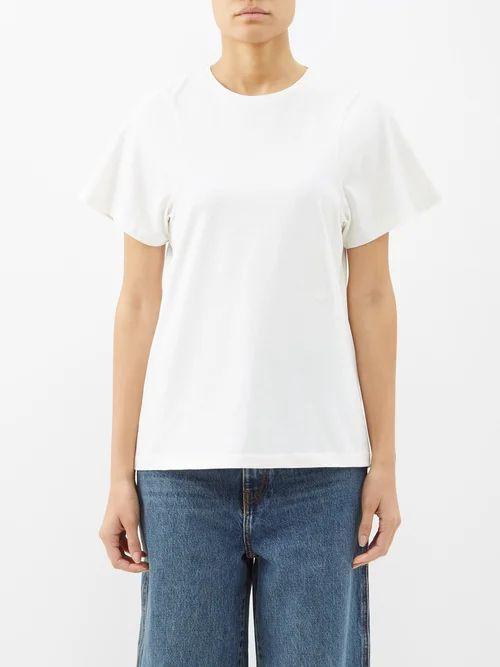 Capranea - Moon Hooded Down Filled Jacket - Womens - Light Grey