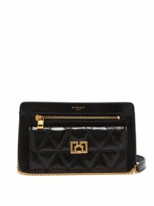 Givenchy - Pocket Leather Cross Body Bag - Womens - Black