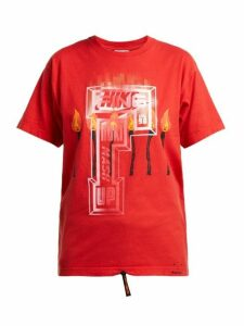 Noki - Customised Street Couture T Shirt - Womens - Red Multi