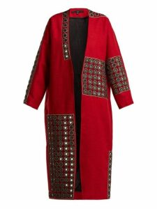 Behno - Behno X Fafine Niutao I Aotearoa Wool Coat - Womens - Red