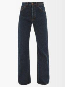 Etro - Agogo V Neck Floral Print Silk Midi Dress - Womens - Black Print