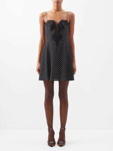 Roksanda - Nyimi Knotted Silk Satin Midi Dress - Womens - Multi