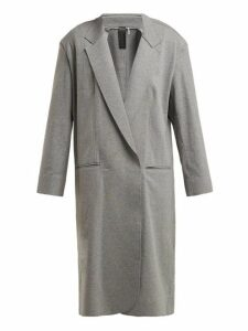 Norma Kamali - Oversized Stretch Cotton Coat - Womens - Grey