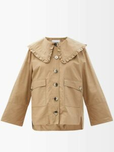 Marine Serre - Sculpted Denim Midi Skirt - Womens - Denim