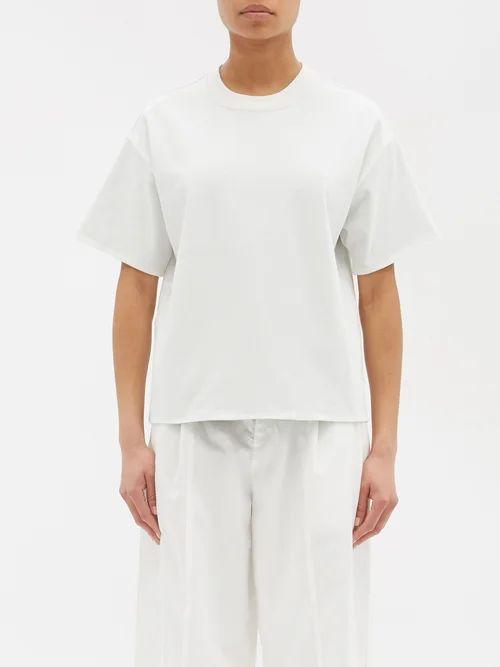 Stella Mccartney - Fringed Checked Wool Blend Coat - Womens - Grey Multi