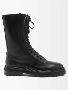 Stella Mccartney - Fringed Checked Wool Blend Coat - Womens - Grey Multi