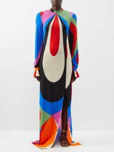 Maria Lucia Hohan - Inais Halter Neck Silk Blend Dress - Womens - Red Multi