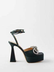 Mary Katrantzou - Rooster Floral Print Dress - Womens - Blue Multi