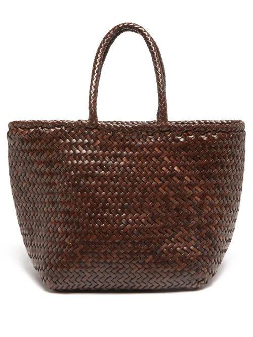 Hillier Bartley - Tie Neck Pinstripe Cotton Shirtdress - Womens - Blue White