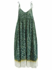 The Attico - Draped Short Sleeved Ruched Velvet Dress - Womens - Fuchsia