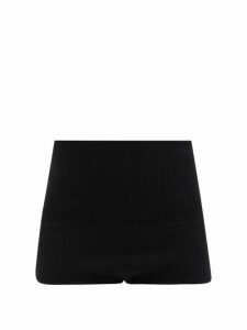 Comme Des Garçons Girl - Bow Trim Ruffled Satin Dress - Womens - Black