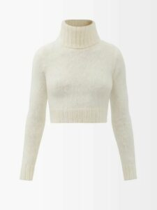 Marine Serre - Contrast Panel Scarf Print Dress - Womens - Black Multi