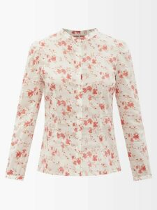 Raey - Split Back Cotton Trench Coat - Womens - Navy