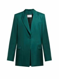 Ryan Roche - Single Breasted Wool Blazer - Womens - Dark Green