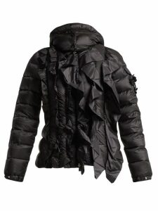 4 Moncler Simone Rocha - Darcy Ruffled Quilted Jacket - Womens - Black