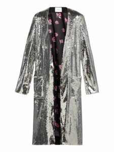 Racil - Vivien Sequinned Coat - Womens - Silver
