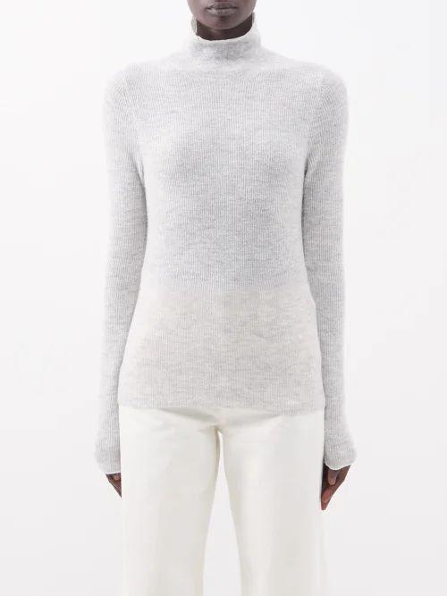 Raey - Slit Front Denim Maxi Pencil Skirt - Womens - Denim