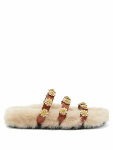 Brock Collection - Sorrel Floral Print Satin Pencil Skirt - Womens - Brown