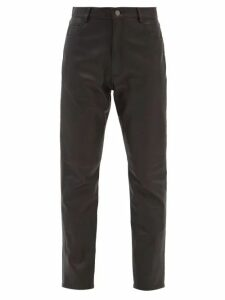The Row - Adesuwa High Neck Silk Gown - Womens - Black