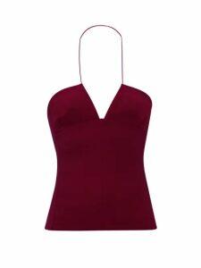 Khaite - Daniella Checked Cotton Blend Shirtdress - Womens - Blue