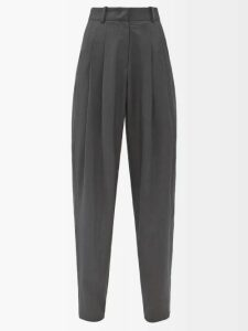 Junya Watanabe - Pleat Back Striped Poplin Shirtdress - Womens - Light Blue