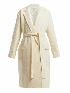 Helmut Lang - Longline Virgin Wool Coat - Womens - Ivory