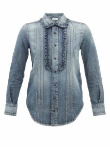 Isabel Marant - Pandor Ruched Silk Blend Mini Dress - Womens - Silver