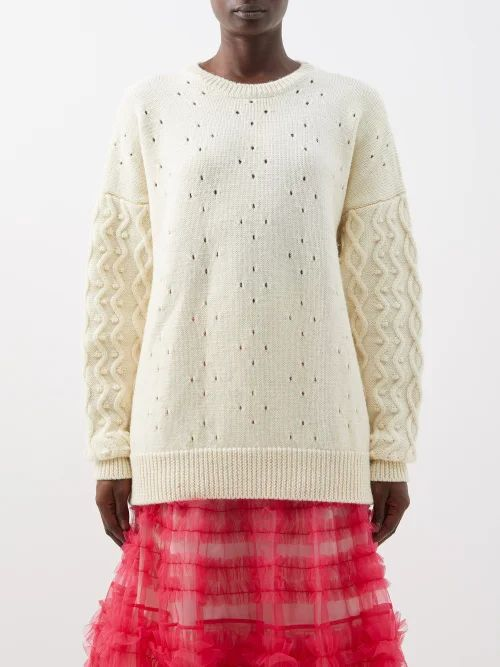 Mr & Mrs Italy - Shearling Lined Cotton Parka - Womens - Dark Green