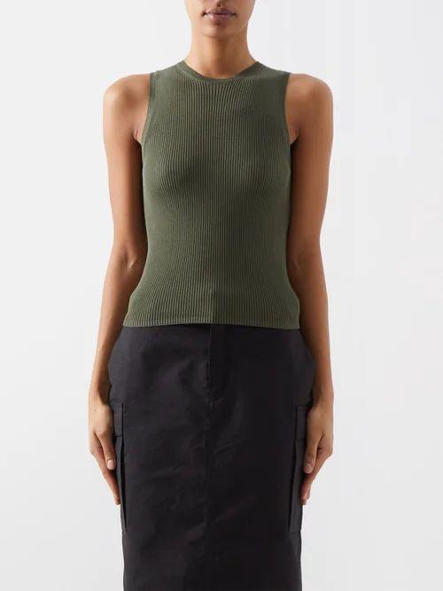 Chloé - Patch Pocket Silk Coat - Womens - Dark Brown