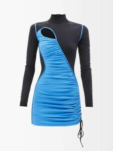Joseph - Beck Pleated Wool Wrap Skirt - Womens - Navy