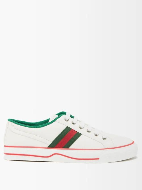 Luisa Beccaria - Houndstooth Print Silk Chiffon Gown - Womens - Green Multi