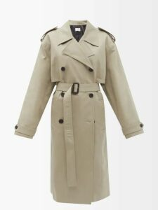 Raquel Diniz - Armonia Tie Neck Velvet Dress - Womens - Dark Green