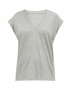 Prada - Jersey And Tulle Dress - Womens - Pink Multi