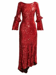 Maria Lucia Hohan - Polina Asymmetric Sequinned Dress - Womens - Red