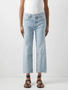 Raey - Skinny Strap Cotton Jersey Vest - Womens - Grey