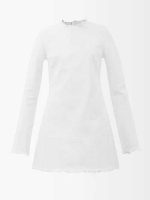 Raey - Aviator Shearling Jacket - Womens - Ivory