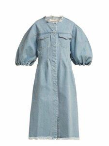 Marques'almeida - Puff Sleeve Denim Dress - Womens - Denim