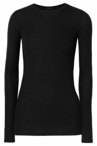 ATM Anthony Thomas Melillo - Ribbed Stretch-micro Modal Top - Black