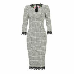Nissa - Bodycon Dress With Floral Detail On The Neckline