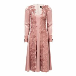 Nissa - Velvet Dress With Embroidery
