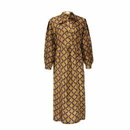 Asneh - Stella Green Printed Silk Dress