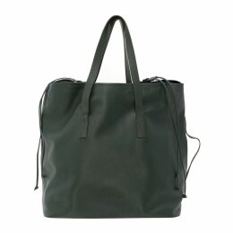 DUARTE - Oversize City Bag In Green Grained Natural Cowhide Leather