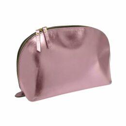 VIDA VIDA - Lunar Metallic Pink Leather Wash Bag