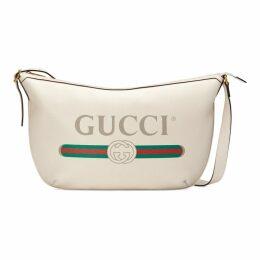 Gucci Print half-moon hobo bag