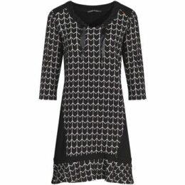 Mado Et Les Autres  Jacquard knit dress  women's Dress in Black