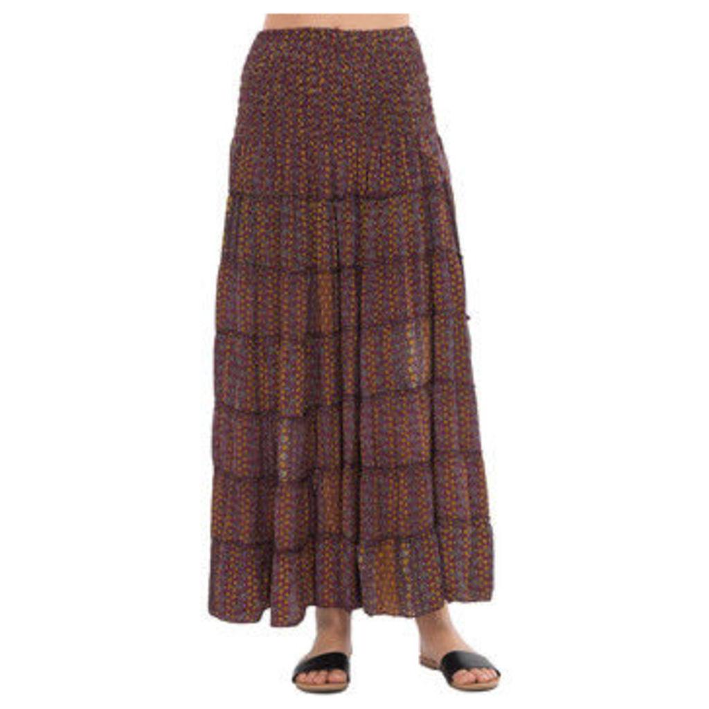 Couleurs Du Monde  Skirt  women's Long Dress in Purple