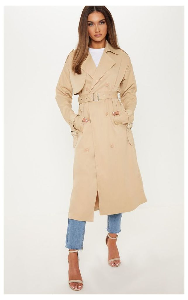 Stone Trench Coat, White