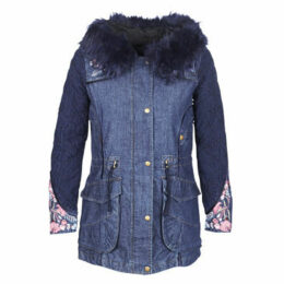 Desigual  RENNE  women's Parka in Blue