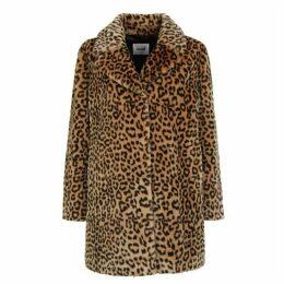 Stand Levona Animal Print Faux Fur Jacket